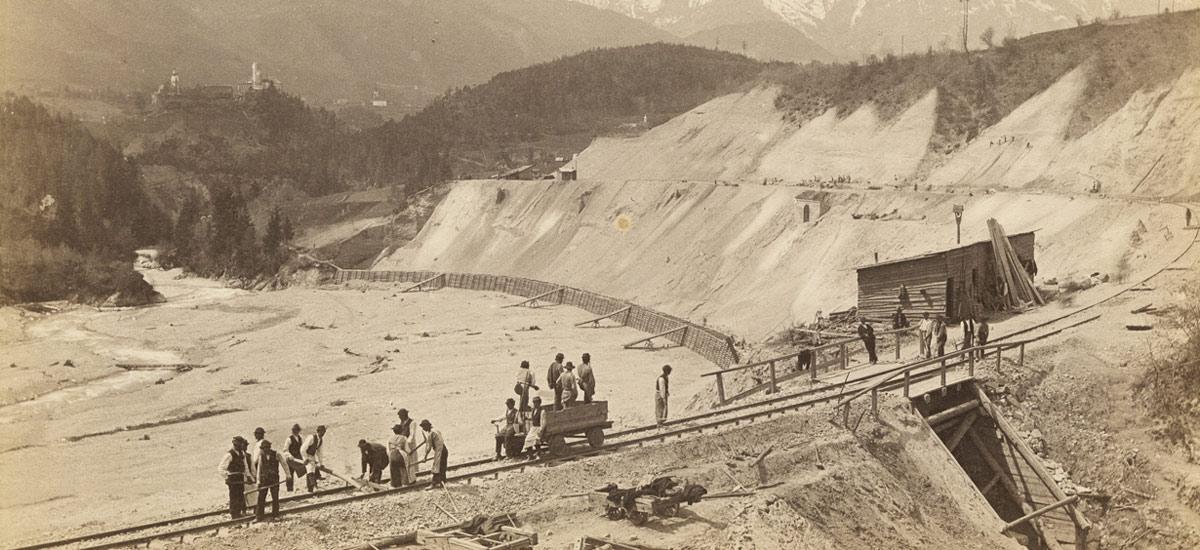 Immagine storica Ferrovia della Val Pusteria, Galleria di Castel Lamberto